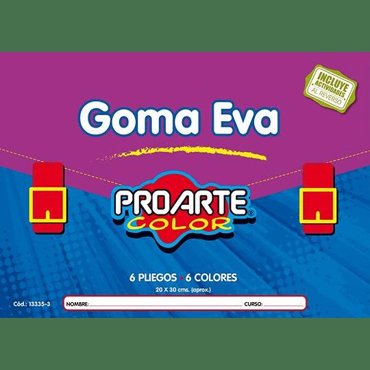 ESTUCHE GOMA EVA 6 HOJAS