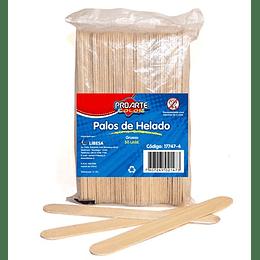 PALOS DE HELADO GRUESO MADERA 5O UNIDADES