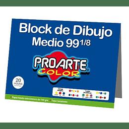 BLOCK DIBUJO MEDIO N°99 1/8 20 HOJAS