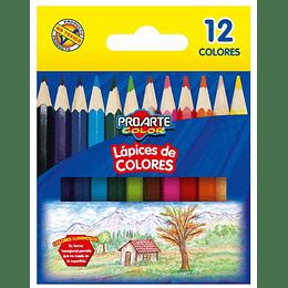 LÁPICES CORTOS 12 COLORES