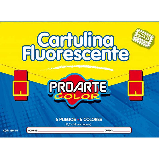 ESTUCHE CARTULINA FLUORESCENTE 6 HOJAS