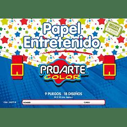 ESTUCHE PAPEL ENTRETENIDO 9 HOJAS 18 DISEÑOS