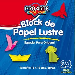 BLOCK PAPEL LUSTRE 16 X 16 24 HOJAS