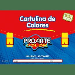 ESTUCHE CARTULINA PINTADA 18 HOJAS