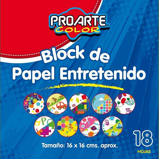 BLOCK PAPEL ENTRETENIDO 16 X 16 18 HOJAS