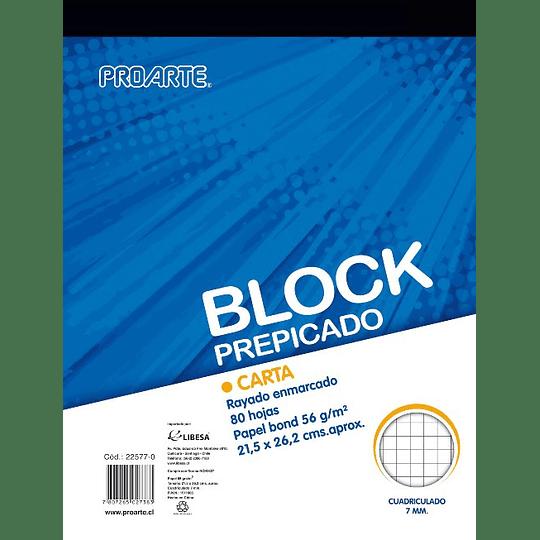 BLOCK PREPICADO CARTA 80 HOJAS 7 MM