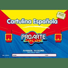ESTUCHE CARTULINA ESPAÑOLA 10 HOJAS