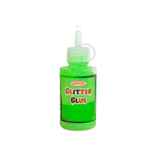 GLITTER GLUE 60 GR COLOR VERDE