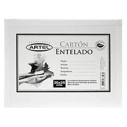CARTÓN ENTELADO 20X25 CM
