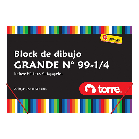 BLOCK DIBUJO GRANDE N°99 1/4 20 HJS C/ ELÁSTICOS