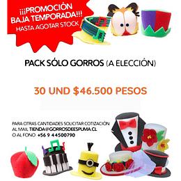 PACK PROMOCIÓN 30 GORROS DE ESPUMA