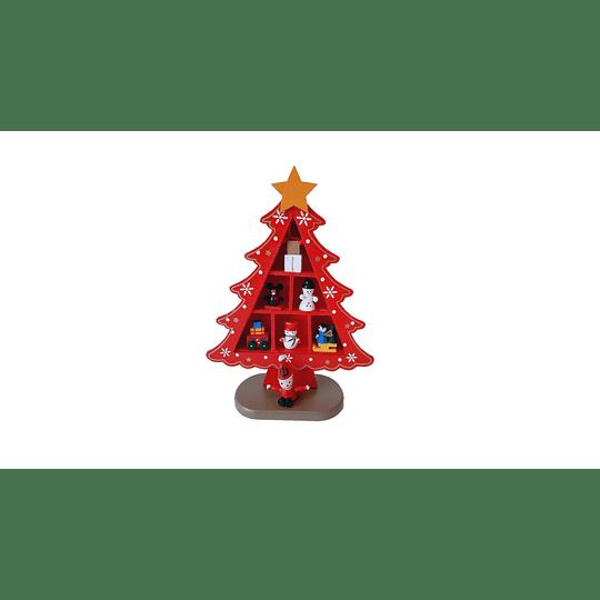 ÁRBOL NAVIDEÑO DE ESCRITORIO  COLOR ROJO