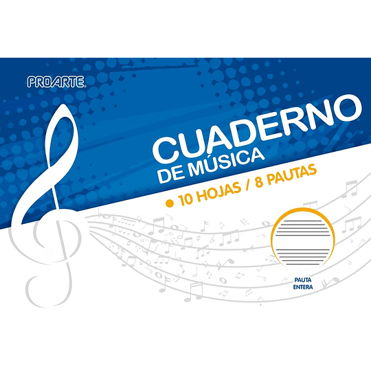 CUADERNO DE MÚSICA PAUTA ENTERA
