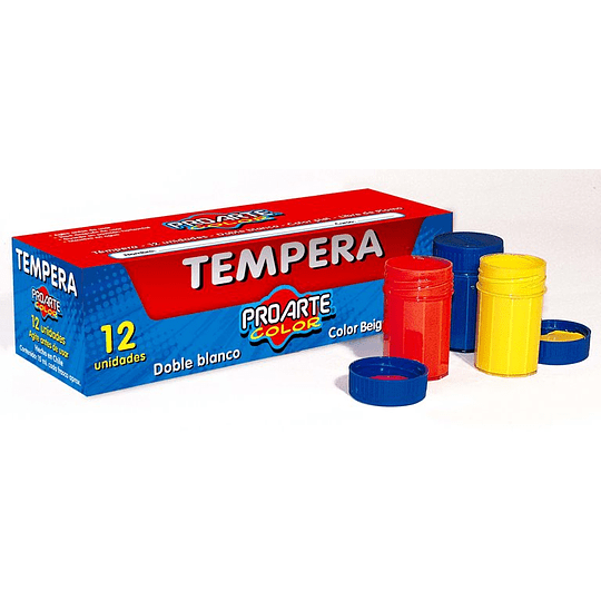 SET TEMPERA 12 COLORES