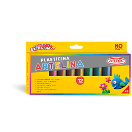 PLASTICINA ARTELINA 12 COLORES