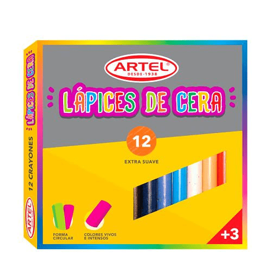 LÁPICES DE CERA 12 COLORES