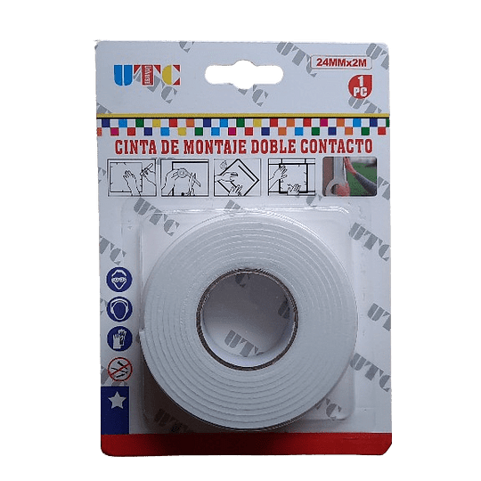 CINTA ESPUMA DOBLE CONTACTO 24MM X 2MT