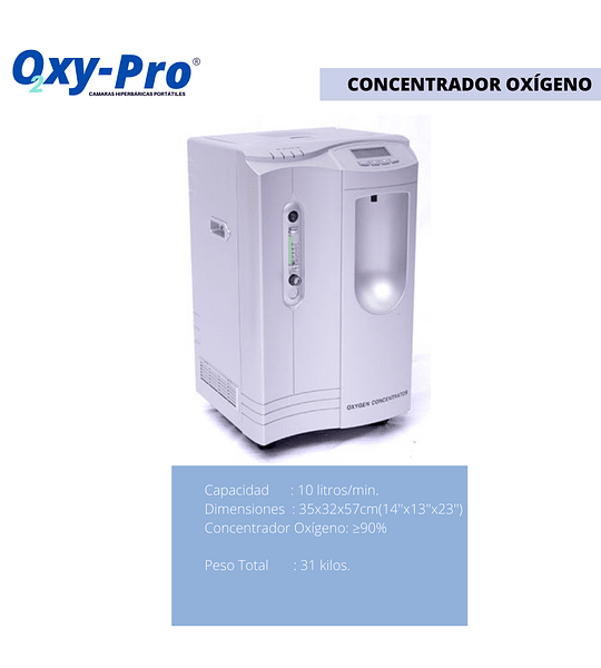Camara Hiperbarica Portatil Marca Oxy-pro Mod.OXY-801