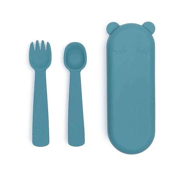 Caixa Com Talheres - Azul