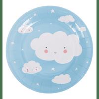 Pratos de Papel - Nuvem