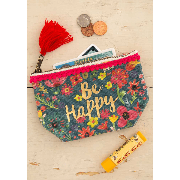 Porta-Moedas - Be Happy
