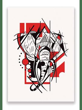 Impressão Elefante