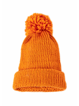 Little Badger Yellow Beanie - Handmade with 100% Wool
