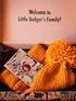 Gorro amarillo Little Badger - Hecho a mano con 100% lana