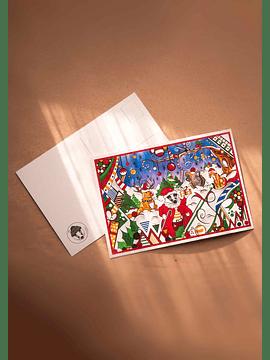 Christma's postcard