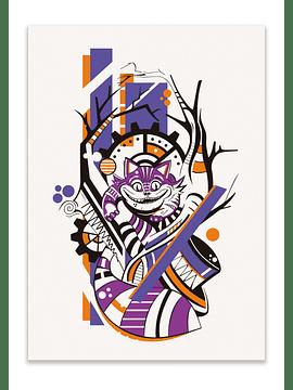 Impressão Gato de Cheshire