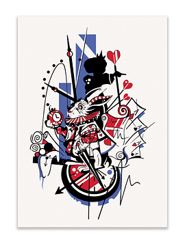 White Rabbit Print