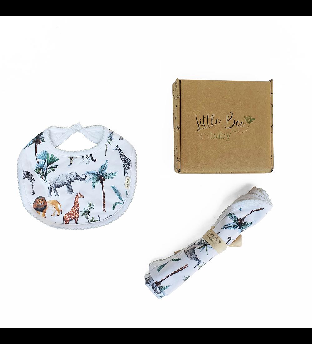 LITTLE BEE BOX Tuto + Babero Safari