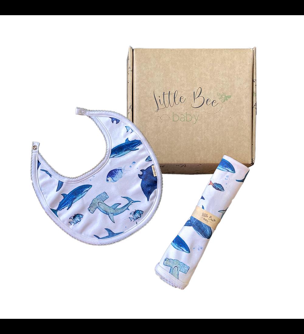 LITTLE BEE BOX Tuto + Babero Sharks