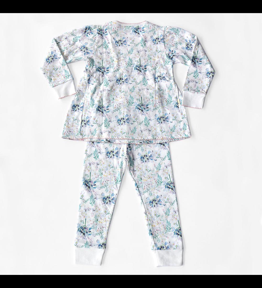 Pijama Largo Invierno Blue Flowers