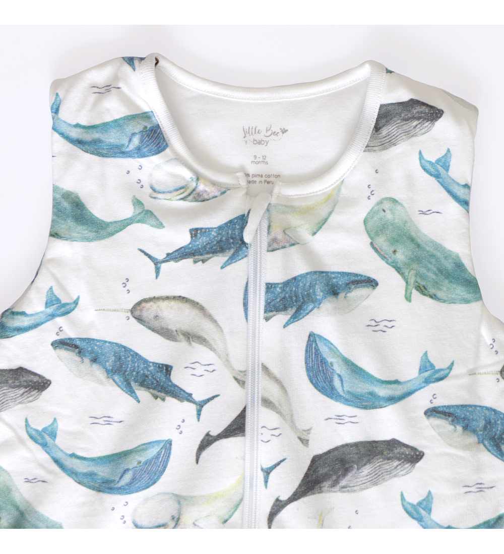 Saquito Forrado Baby Deep Whales