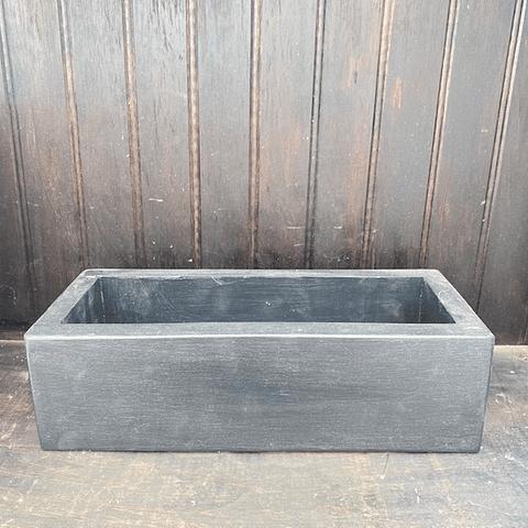 Jardinera madera negra 30 cm de largo