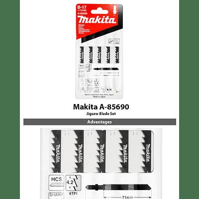 Hoja De Calar B-17 (6t x 70 mm) Madera, Plástico (Cortes Curvos, Scroll) Makita