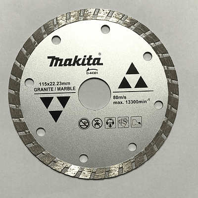Disco Diamantado P/Granito /Marmol Ondulado 115x22.23mm Makita