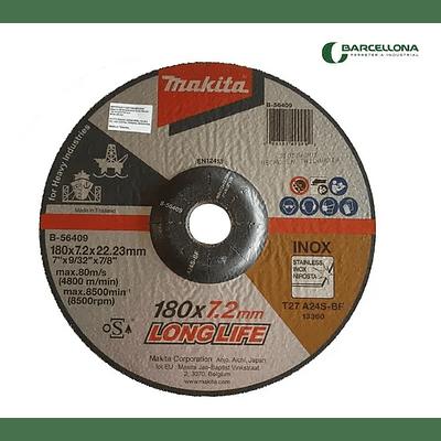 Disco Desbaste Metal/Inoxa24s 180x7.2x22.23 Trabajo Pesado Makita