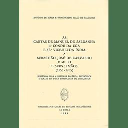 AS CARTAS DE MANUEL DE SALDANHA 1º Conde da Ega