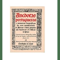 ANEDOTAS PORTUGUESAS e Memórias Biográficas da Corte Quinhentista