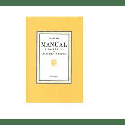 Manual Tipográfico de Giambattista Bodoni