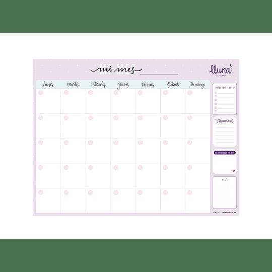 Planificador Digital Mensual Lila
