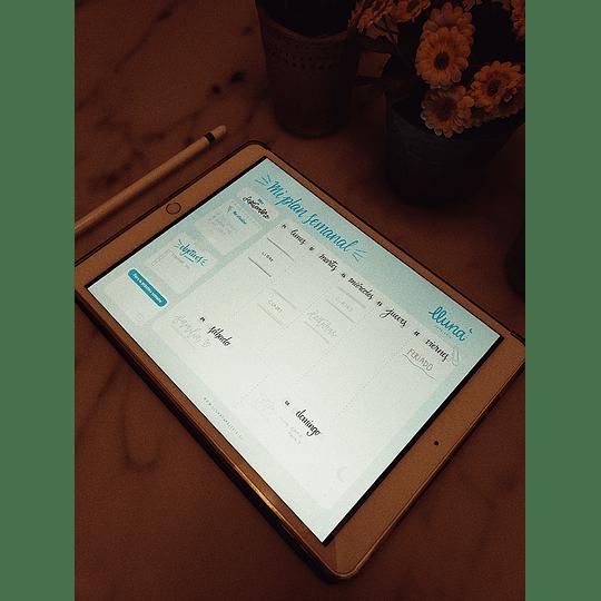 Planificador Digital Semanal Verde