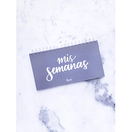 """Mis Semanas"" Planificador Semanal Mini"