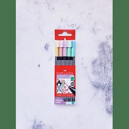 Set 5 F-Castell Grip Finepen Pastel
