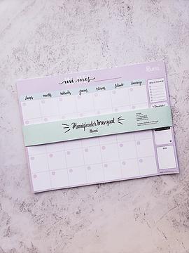 Planificador Mensual Lila