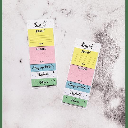 Set de 125 Notas Adhesivas Pastel