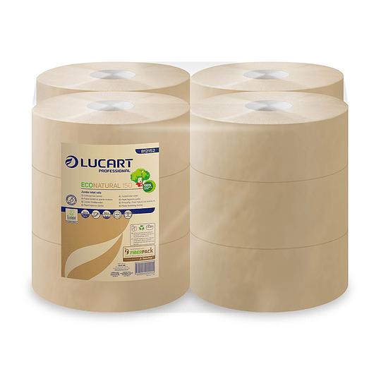 Papel Higiénico Lucart Econatural 150 MT X 12 Rollos.