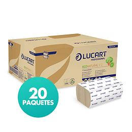 Toallas Interdobladas Hechas de Fiberpack Doble Hoja de 21 x 21 cm Caja de 20 Paquetes de 190 Hojas c/u.